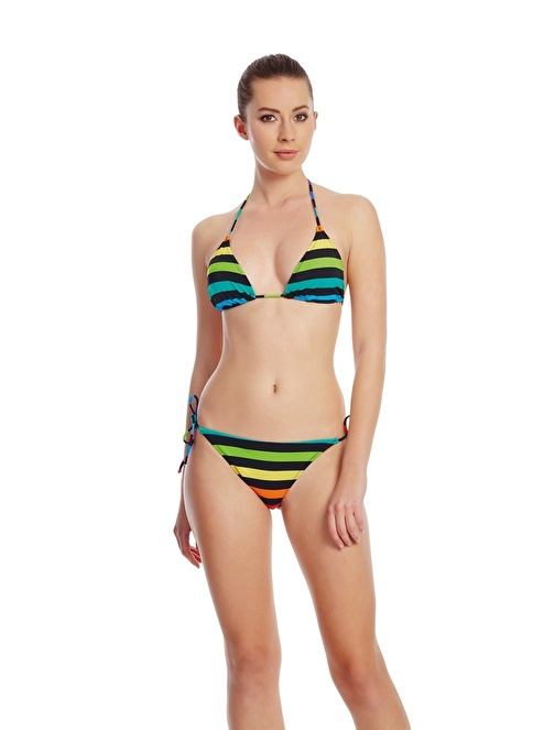 Dagi Üçgen Bikini Üstü Renkli